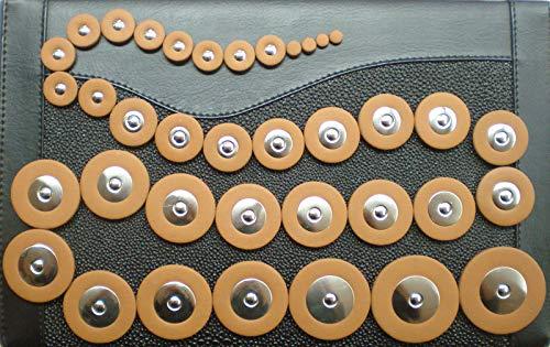 58 Zapatillas en cuero para Saxofón Tenor Soundman® Resonadores en Metal Juego Universal Zapatilla 58 pcs
