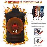 Keymao Elektrische Beheizte Weste Größe Temperatur Einstellbar Warmer Weste USB-Lade Beheizter Kleidung Gilet Unisex und Schwarz (Schwarz, einstellbar) (Fleece) - 2