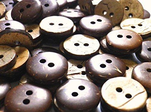 木 椰子 ヤシ ココナッツのボタン 2穴 CO-104-2 (15mm 100個セット)