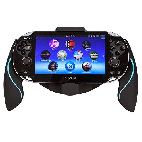 Link-e  - Controller halterung ergonomischer joystick griffe schwarz / blau für Sony PS Vita 1000 Konsole