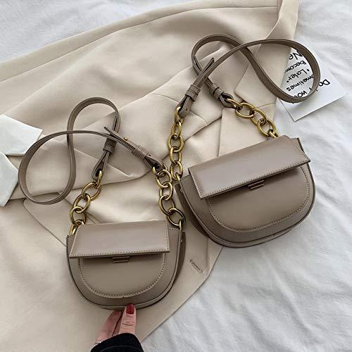 Mdsfe PU Leder Mini Umhängetasche Damen 2020 Mode kleine Umhängetasche Damenhandtasche und Satteltasche - SmallKhaki