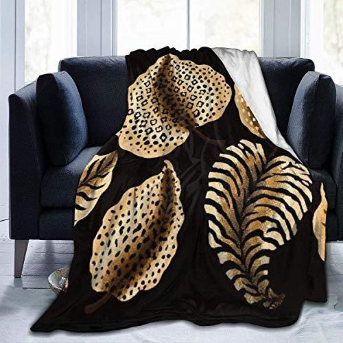 AEMAPE Manta de Tiro Marrón Naranja Cebras Shell Alfombra térmica Descanso en el automóvil para Mujeres Lujosa Alfombrilla para Dormir Cubierta de Franela para Invierno 50 'x 60'