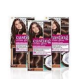 L'Oreal Paris Casting Creme Gloss Brown Semi-Permanent Hair Dye, Blends Away Grey Hair Leaving A Radiant Hair...