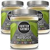 Hunter & Gather Mayocado - Mayonesa Vegana de Aceite de Aguacate Puro 3 x 175g | Sin Huevo, Libre de Colorantes Artificiales y Saborizantes | Paleo, Ceto/Keto, Libre de Gluten y Azúcar