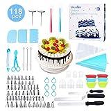 esafio 118pcs / set Kit di decorazione per torta professionale , Riutilizzabile / Monouso ...
