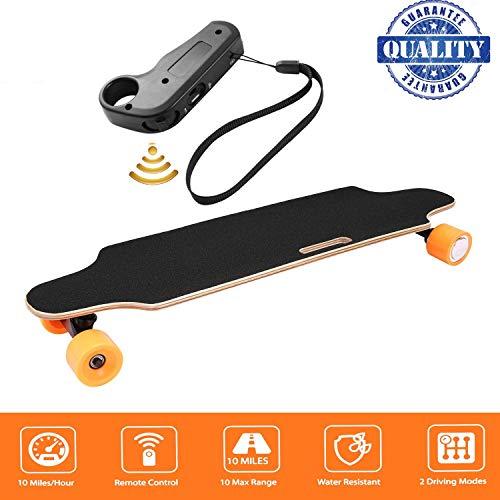 fiugsed Électrique Skateboard Longboard Skateboard avec Télécommande sans Fil Bluetooth, Planche...