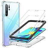 Yocktec Funda + Cristal Templado para Huawei P30 Pro(2 Paquetes), Funda Carcasa de Gel Ultrafina y Suave de TPU con Vidrio Protector de Pantalla para Huawei P30 Pro Smartphone