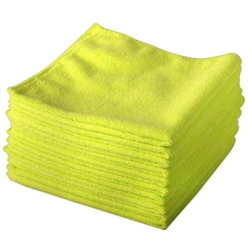 Confezione da 20 pezzi, colore: giallo, in microfibra Exel Magic per pulizia originale marchio Cloths. chimici pulizia. è antibatterico panni in microfibra per una pulizia