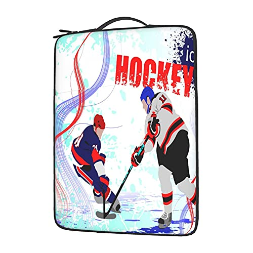 OYQGEJGPJA Ice Hockey Players, Laptop Cover Protective Carrying Case Cover for 13in14in15.6in Lenovo Dell Hp Asus Acer Chromebook, Plush Laptop Bag Inside 13 Inch