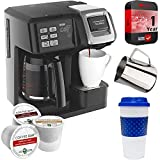 Hamilton Beach 49976 FlexBrew 2-Way Coffee Maker (Black) Bundle with Deco Gear Kitchen & Single Serve Pods