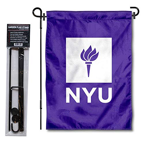 College Flags & Banners Co. New York Violets Garden Flag with Stand Holder
