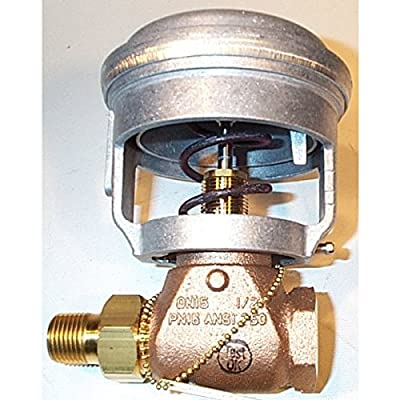 Series VG7000 Model VG7251GS Brass Trim Globe Valve with Model V-3801-8001 Compact Pneumatic Actuator, 3-6 psig Spring Range by Johnson Controls, Inc
