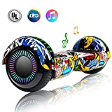 CBD 6.5' Hoverboard for Kids, Two Wheels Self-Balancing Electric Scooter with Bluetooth and LED Lights,Smart Hover Board - UL2272 Certified (Ultimate X-Graffiti)