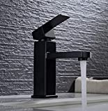Robinet Salle Black Bathroom Washbasin Mixer Faucet Deck Mounted Water Mixer Tapware Squared Style 2 Height