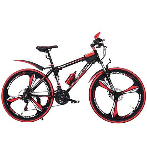 Fahrräder Erwachsene Fahrrad Mountainbike Studenten Rennrad Bergsteigen Fahrrad Außen Freizeit Fahrradgeschwindigkeit einstellbar Doppelscheibenbremse Fahrrad (Farbe: Rot, Größe: 24 Zoll) lalay