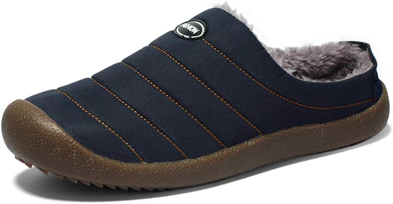 Cici shoes Womens Winter Warm Cozy Fleece Memory Foam Indoor House Slippers Boots