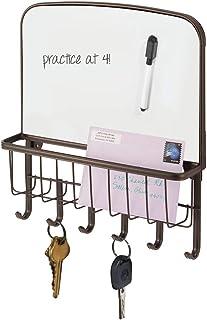 mDesign range courrier et boite à clés en acier - pour le rangement de vos clefs, lettres et brochures - avec un tableau b...