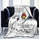 Winnie The Pooh Cozy Luxury Bed Throw Blanket Soft Flannel Blanket Sofa Chair Bed Couch for Adult and Kids