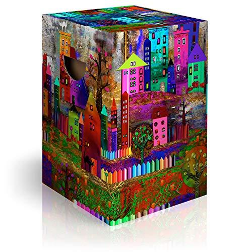murando Papphocker Motiv Klimt 45x30x30 cm faltbar Papier Hocker ergonomischer Karton Photohocker Falthocker a-A-0378-ap-a