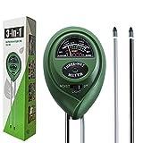 Dooppa 3-in-1 Soil pH Meter, Plant Soil Tester Kit with Moisture,Light and PH
