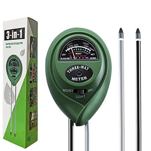 Dooppa 3-in-1 Soil pH Meter, Plant Soil Tester Kit with Moisture,Light and...