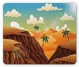 Mousepad,Tappetino Mouse,Mouse Pads,Tappetino Per Il Mouse Del Deserto,Paesaggio Della Scogliera Della Valle Lungo Le Palme Sull'Altopiano Sahara Viaggio Egiziano,Tappetini Per Mouse Da Gioco Tappet