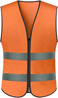 Roloiki High Visibility Reflective Safety Vest Workwear Working Clothes Reflective Vest Security Clothing Day Night Motorcycle Cycling Warning Safety Waistcoat