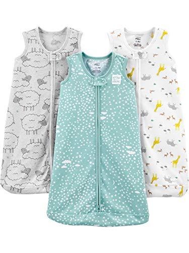 Simple Joys by Carter's Baby Schlafsack, Polyester, ärmellos, Tiere/Schaf, 3-6 Monate, 3 Stück