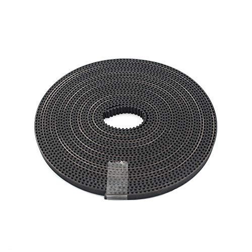 YIBANG-DIANZI 5m/lot GT2-6mm Open Timing Belt Width 6mm GT2 Belt Fiberglass Cut To Length For 3D Printer (Color : Width 10mm, Size : 5 Meter)