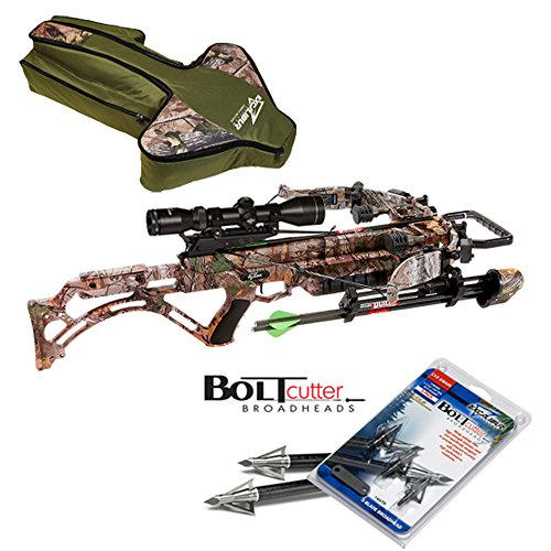 Excalibur Micro Suppressor Crossbow Package UPGRADED Twilight DLX Scope with Crypt Case and 3 Broadheads