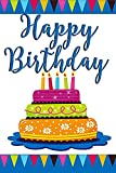 Happy Birthday Cake and Candles Decorative Garden Flag, Double Sided, 12' x 18' Inches, Outdoor Banner