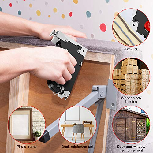 Staple Gun, 3 in 1 Staple Gun Kit with 3000 Staples and Stapler Remover Adjustable Heavy Duty Stapler for Wood Upholstery Crafts Cable Fixing Material Furniture Decoration Photo #2