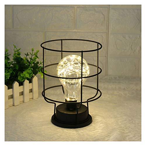 NERR YULUBAIHUO Lámpara de Mesa Estilo Retro Creativo Linterna de Cobre Funnel Diamante Modelado de la Cama Lámpara de Noche Decoración de Mesa de casa Maison (Lampshade Color : Funnel Modeling)