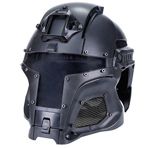 Lejie Taktisch Militär Ballistischen Helm Seitenschiene NVG Shroud Transfer Base Armee Kampf Airsoft Paintball Volles Gesicht Maske Helm