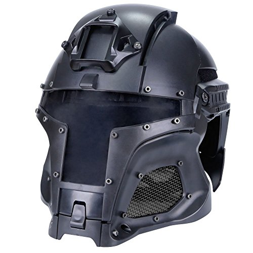LEJUNJIE Tactical Military Ballistic Helmet Side Rail NVG Shroud Transfer Base Army Combat Airsoft Paintball Full Face Mask Helmet