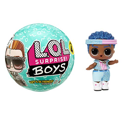 LOL Surprise Boys - Muñeco con 7 Sorpresas - Divertido Efecto de Cambio de Color y Accesorios de Moda - LOL Surprise Boys Serie 4 - Muñecos Coleccionables para Niños a Partir de 3 Años
