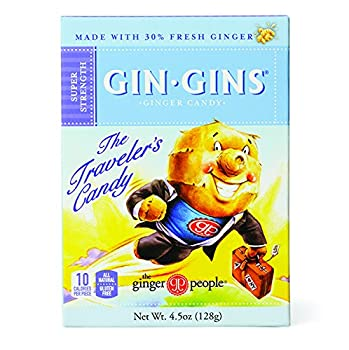 The Ginger People Gin Gins BOOST Super Strength Ginger Candy 4.5-Ounce Boxes  Pack of 12