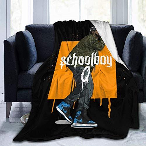 XCNGG Mantas de Cama Mantas de Siesta Mantas de Aire Acondicionado Schoolboy Q Home Warm Blanket Luxury Super Soft Flannel Large Size Living Room Bedroom