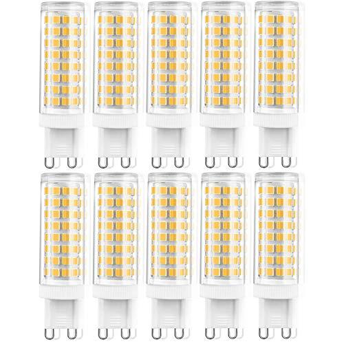 ZJYX G9 LED Blanco Fría, 10W Bombilla LED G9 6000K Equivalente a Halogeno 100W Spot Luz G9 1000LM Bajo Consumo 220V lámpara G9 Haz de Ángulo 360 ° No Regulable Pack de 10