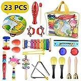 Pachock 23PCS Instrument de Musique pour Enfant, Les Enfants d'âge Préscolaire et Les Bébés Instruments de...