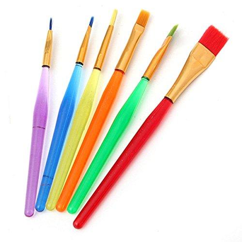 6 Stück Pinsel-Set, Professionelles Aquarellpinsel-Set für Aquarellmalerei, Kunstpinsel, Pinsel-Set aus Acrylfarben für Künstler, Ölgemälde
