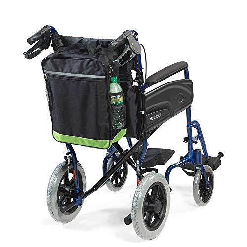Reflektierende Rollstuhl-Rollertasche von NRS Healthcare, schwarz und grün