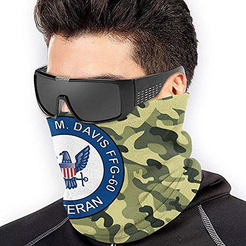 Randy-Shop USS Rodney M Davis FFG-60 Veteran Unisex Fleece Halswärmer Gesichtsmaske Halsrohr Gamaschen