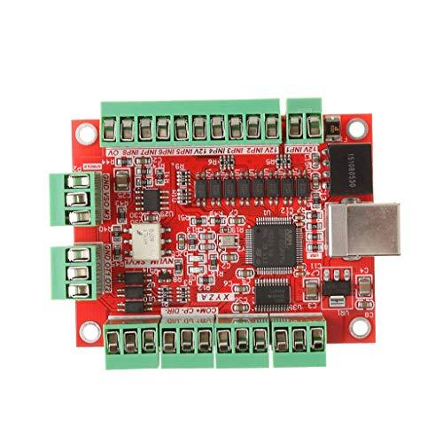 Nuokix CNC-USB 4 100 kHz USB-CNC Controller Interface Board Card Breakout Relais Industrial Scientific