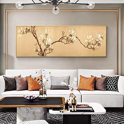 UIOLK Arte Chino Antiguo Lienzo Pintura al óleo Carteles e Impresiones Moderno Colgante nórdico Arte Pared decoración del Dormitorio