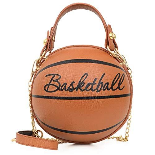 AoAo Bolso niña, bolso para niña bolso de asas redondo del naranja del bolso del baloncesto de la muchacha linda