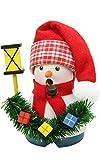 "Alexander Taron Importer 1-665 Christian Ulbricht Incense Burner - Snowman with Lantern - 4"" H x 3"" W x 2.5"" D, Red"