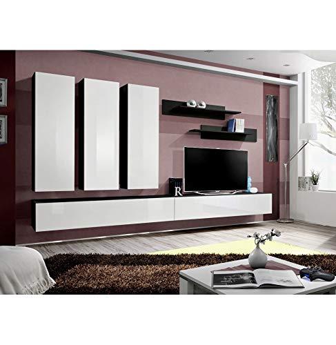 ASM Ensemble TV - 6 éléments - Blanc et Noir