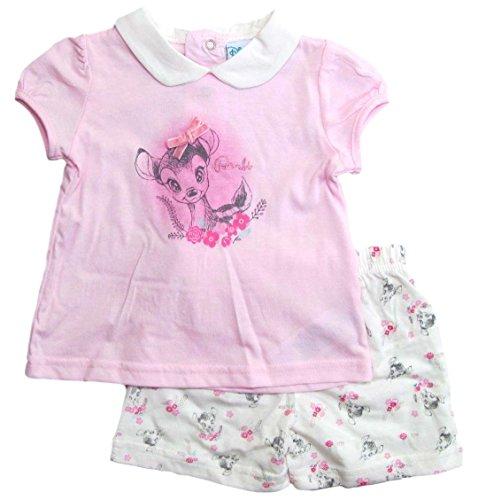 Bambi Kollektion 2018 Schlafanzug 62 68 74 80 86 92 Mädchen Pyjama Disney Shortie Shorty Neu REH Rosa (Rosa, 74-80)