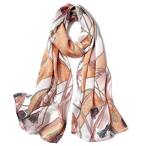 Schal Schal Dame Silk Schal Satin Seidenschal Vintage-Nation 170cm * 53cm Schals (Color : 13, Size : 170cm*53cm)